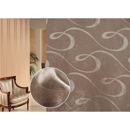 Ткань Абстракция 280 см блэкаут цвет экрю