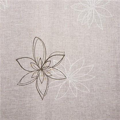 Ткань Цветы 280 см лен цвет экрю