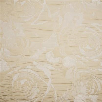 Ткань Цветы 280 см жаккард цвет экрю