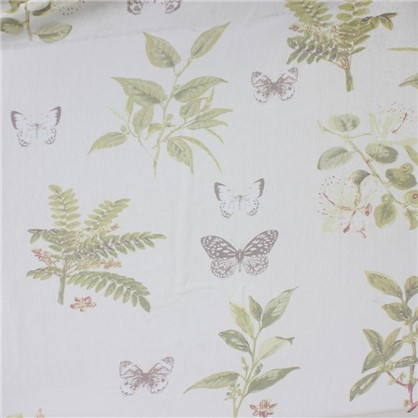 Ткань сатен Бабочки 280 см цвет бежевый