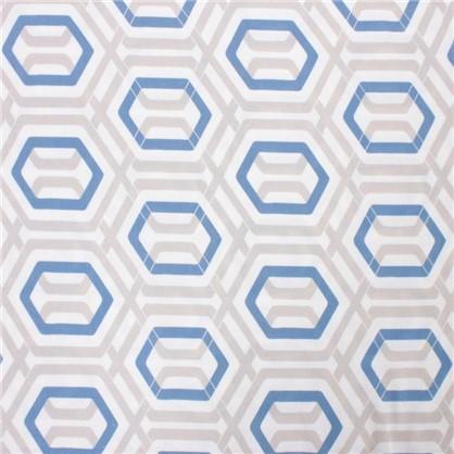 Ткань Села 280 см абстракция цвет синий