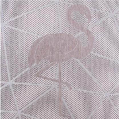 Ткань жаккард Лен фламинго 280 см цвет розовый