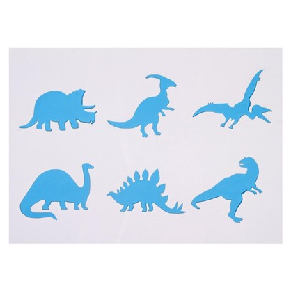 Трафарет самоклеящийся Динозавры 25х35 см