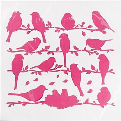 Трафарет самоклеящийся Птицы 30х30 см