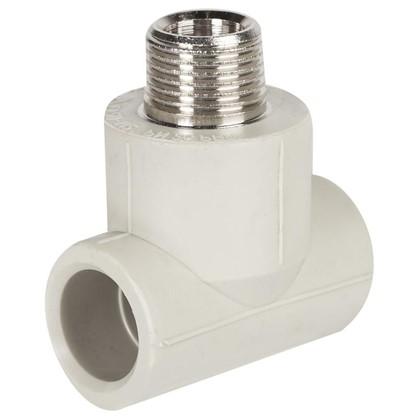 Тройник комбинированный FV-Plast наружная резьба 20х1/2 мм полипропилен
