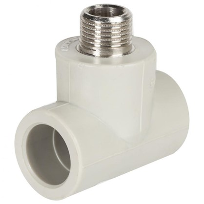 Тройник комбинированный FV-Plast наружная резьба 25х1/2 мм полипропилен