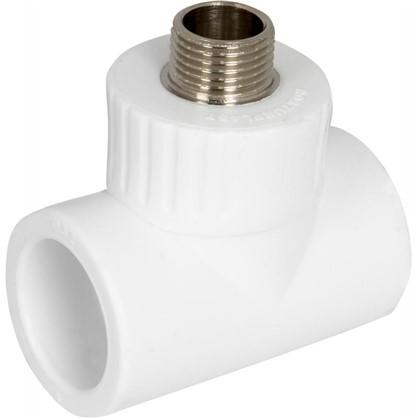 Тройник комбинированный наружная резьба 32 мм х 1/2 полипропилен