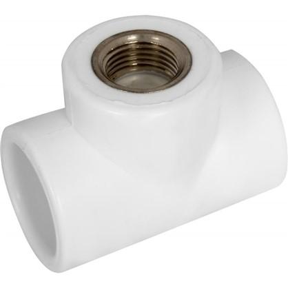 Тройник комбинированный внутренняя резьба 32 мм х 1/2 полипропилен