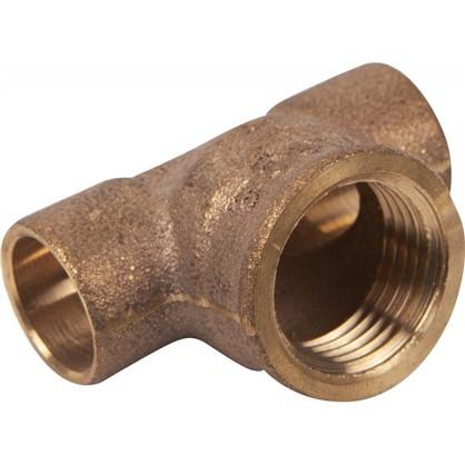 Тройник Viega 15х1/2х15 мм внутренняя резьба медь