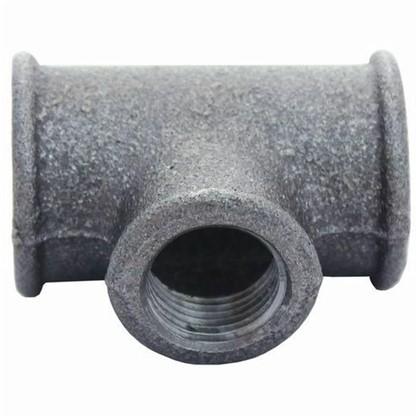 Тройник внутренняя резьба 1 1/4 мм чугун цвет черный