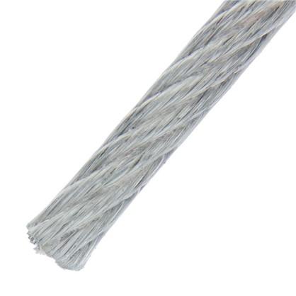 Трос в оболочке PVC 3/4 мм 10 м сталь цвет цинк