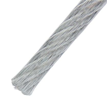 Трос в оболочке PVC 3/4 мм 25 м сталь цвет цинк