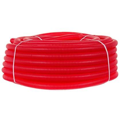 Труба гофрированная d32 L50 м цвет красный