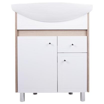 Тумба под раковину напольная АСБ-Мебель Магнолия 65 см цвет белый