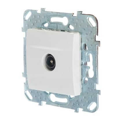 ТВ-розетка Schneider Electric Unica проходная цвет белый