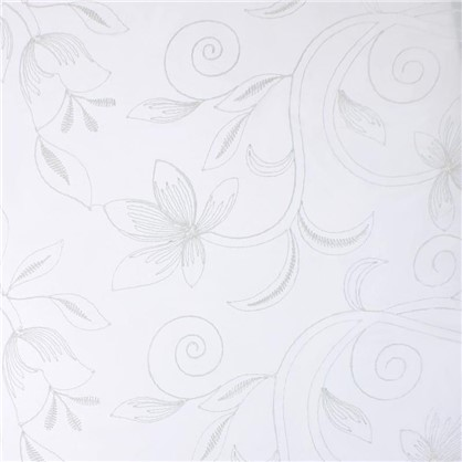 Тюль 1 п/м Цветы вышивка 280 см цвет молочный