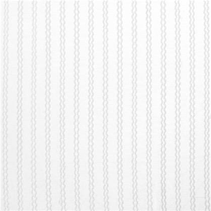 Тюль 1 п/м Полосы сетка 285 см цвет белый