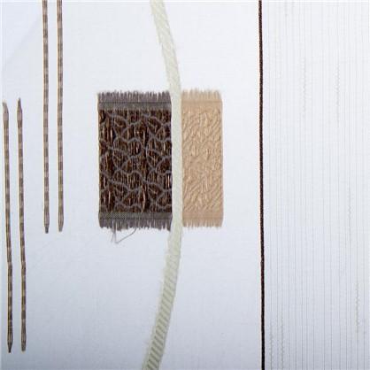 Тюль Абстракция 1 п/м 280 см квадрат цвет кофе