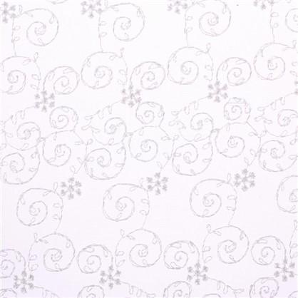 Тюль Каролина вышивка на сетке 280 см цвет бежевый