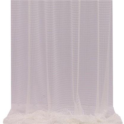 Тюль Круги 1 п/м 300 см сетка цвет экрю