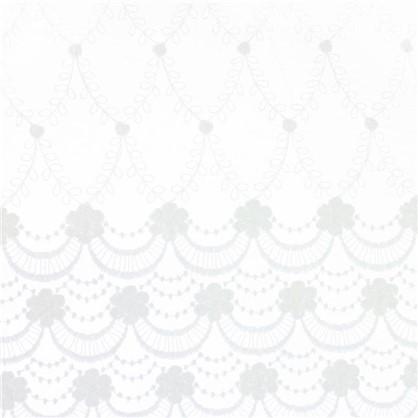Тюль Купон вышивка на сетке 280 см цвет экрю