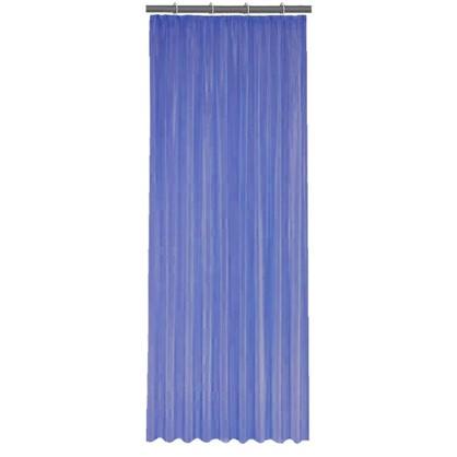 Тюль на ленте 140x260 см органза цвет синий