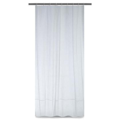 Тюль на ленте Elizabet 250х260 см лен цвет белый