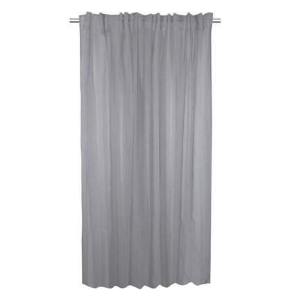 Тюль на ленте Лиза 300х280 см цвет серый