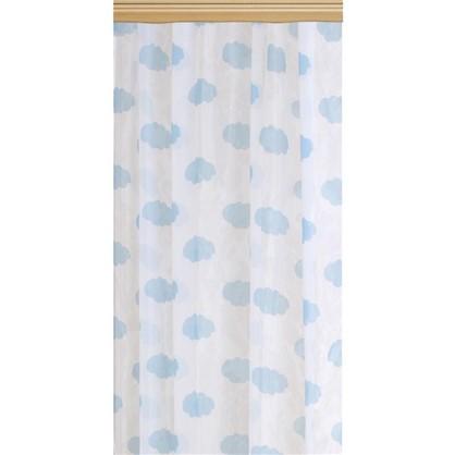 Тюль на ленте Облака 140х260 см цвет голубой