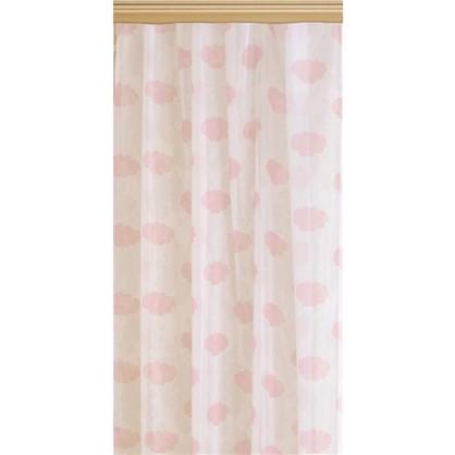 Тюль на ленте Облака 140х260 см цвет розовый