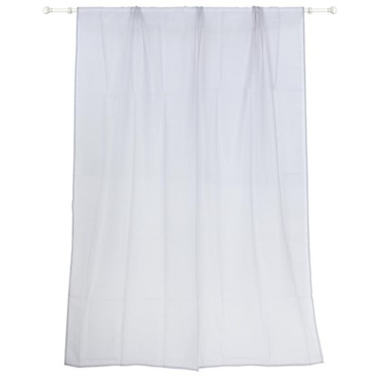 Тюль на ленте Polyone 140X260 см цвет серый