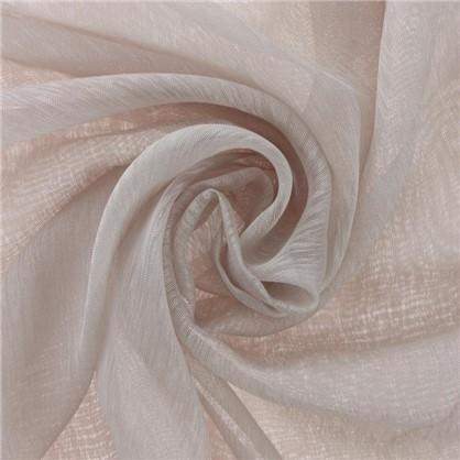 Тюль однотонная Кристаллон 280 см цвет бежевый
