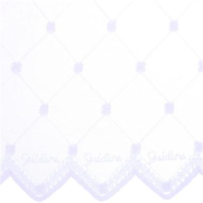 Тюль Ромб вышивка 285 см цвет белый