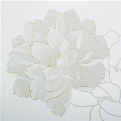 Тюль с печатью Роза 1 п/м 280 см органза цвет белый