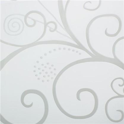 Тюль с печатью Вензель 1 п/м 280 см органза цвет белый
