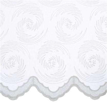 Тюль с вышивкой Мелкий Вензель 1 п/м 280 см органза цвет кремовый