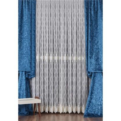 Тюль с вышивкой на сетке Элит 1 п/м 290 см цвет кремовый