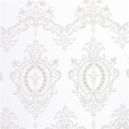 Тюль с вышивкой Султан сетка 290 см цвет кремовый