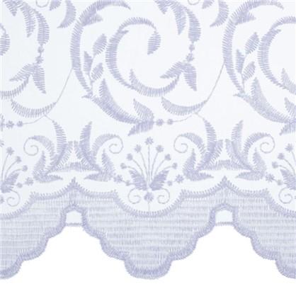Тюль с вышивкой Завиток 1 п/м 280 см органза цвет белый