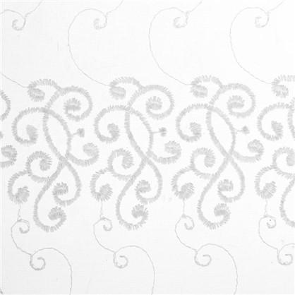 Тюль Узоры вышивка 285 см цвет шампань