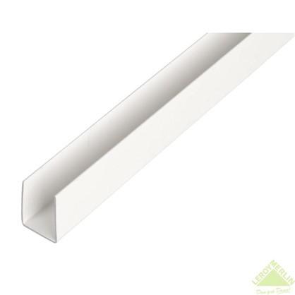 U-Профиль ПВХ 12x10x1x1000 мм цвет белый