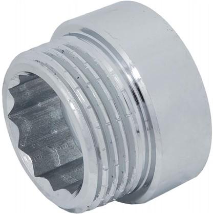 Удлинитель внутренняя резьба 3/4х10 мм цвет хром