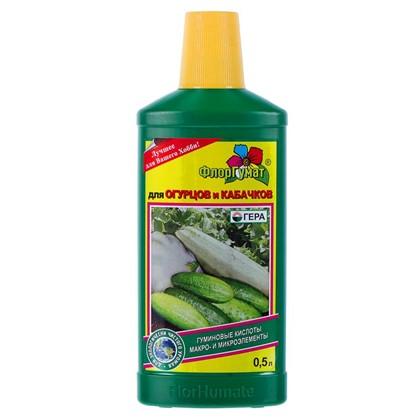 Удобрение ФлорГумат для огурцов и кабачков 0.5 кг