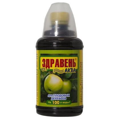 Удобрение Здравень Аква для плодовых деревьев 0.5 л с мерным стаканчиком