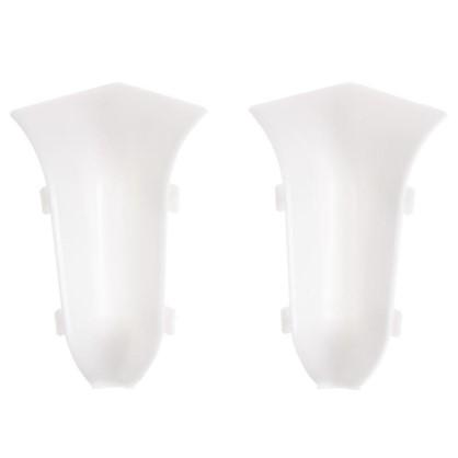 Угол для плинтуса внутренний 55 мм цвет белый 2 шт.