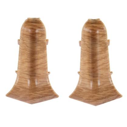 Угол для плинтуса внутренний Дуб Древний 55 мм 2 шт.