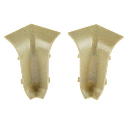 Угол для плинтуса внутренний Светлый Мрамор 47 мм 2 шт.