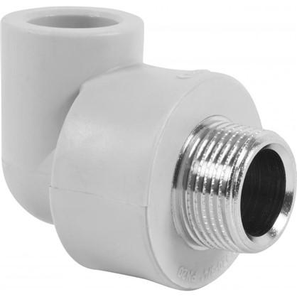 Угол комбинированный FV-Plast -Plast наружная резьба 20х3/4 мм полипропилен