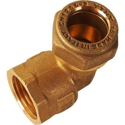 Угол обжимной Tiemme внутренняя резьба 15х1/2 мм медь