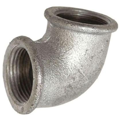 Угол оцинкованный внутренняя резьба 1/2 мм чугун
